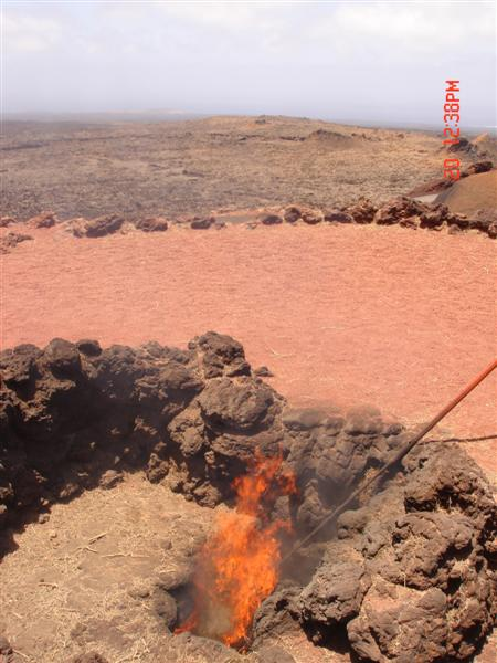 2006 06 01 Canary Islands Active Volcano Crater At